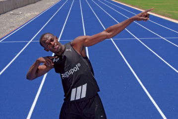 Usain Bolt si allena su Regupol prodotto BSW