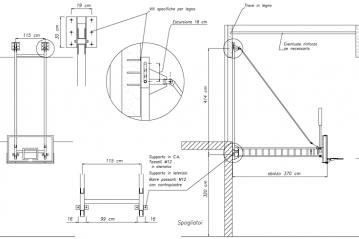 Dettaglio sistema ancoraggio canestro basket brevettato