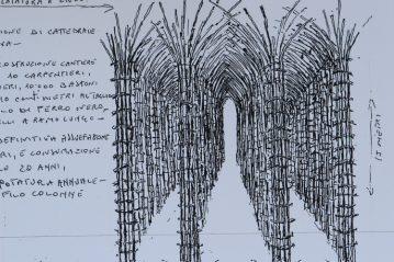 Schizzi di progetto Progetto di Giuliano Mauri © Archivio Giuliano Mauri