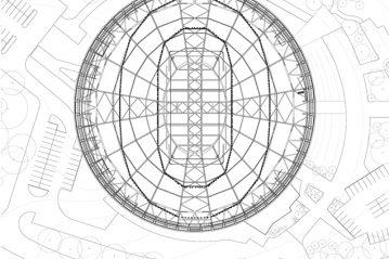 Pianta struttura di copertura