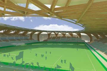 Lo stadio dei Forest Green Rovers (Zaha Hadid)