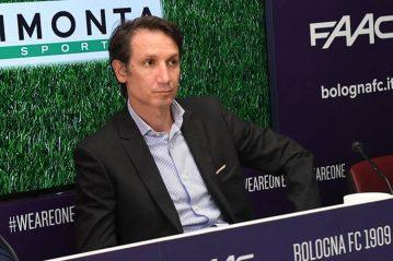 Riccardo Bigno, DS del Bologna FC alla presentazione del campo di Casteldebole - foto Schicchi con sistema Limonta - Il resto del carlino