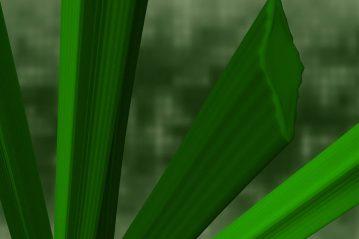 Dettaglio del particolare filo d'erba artificiale