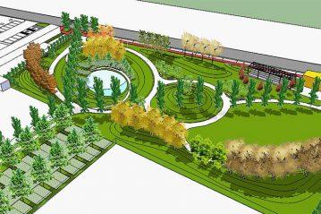 Parco, render di progetto  1
