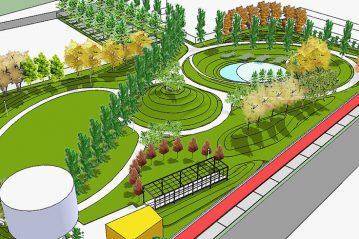 Parco, render di progetto 2