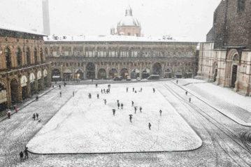 Bologna sotto la nevicata del 13 novembre 2017