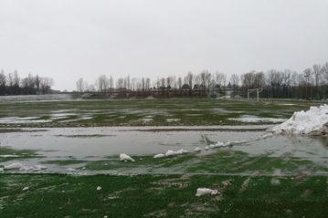 Casteldebole (BO), centro allenamento del Bologna FC1909Campo in erba naturale dopo la nevicata