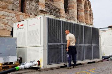 Gli impianti insallati da Trane Italia per la realizzazione dello spettacolo