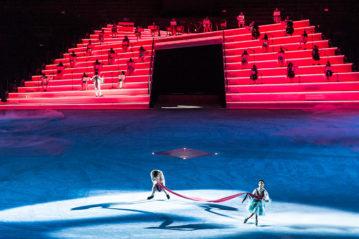 Un momento dello spettacolo all'Arena