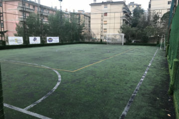 The football pitch, before the conversion took place