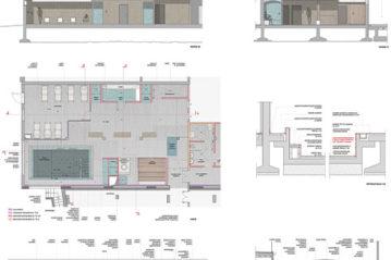planimetria e sezioni area benessere