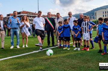 Il primo calcio da parte di Riccardo Gagliolo