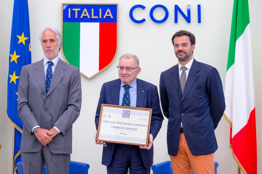 Consegna del Diploma per meriti sportivi del Master SBS  a Giorgio Squinzi