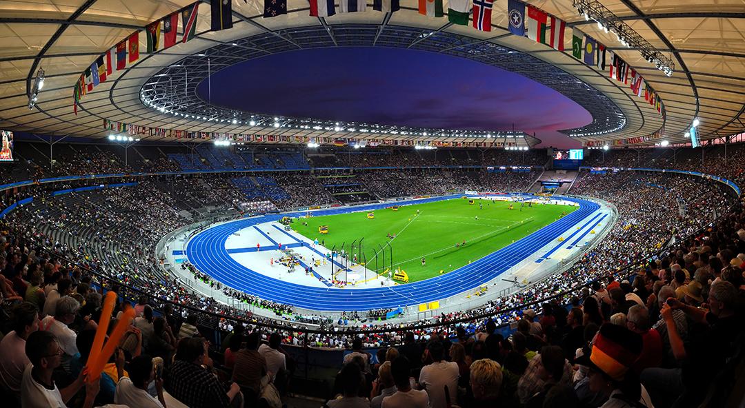 Olympiastadion, agosto 2009. Foto di  Tobi 87