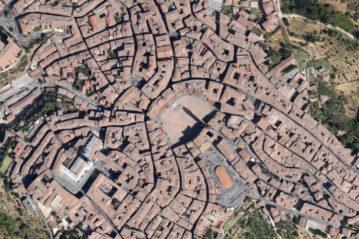 Ortofoto del centro storico di Siena
