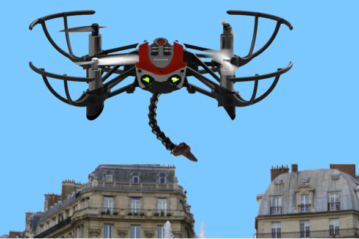 The drone that from this spring identifies and collects the excrement in Paris (photo Municipality of Paris)