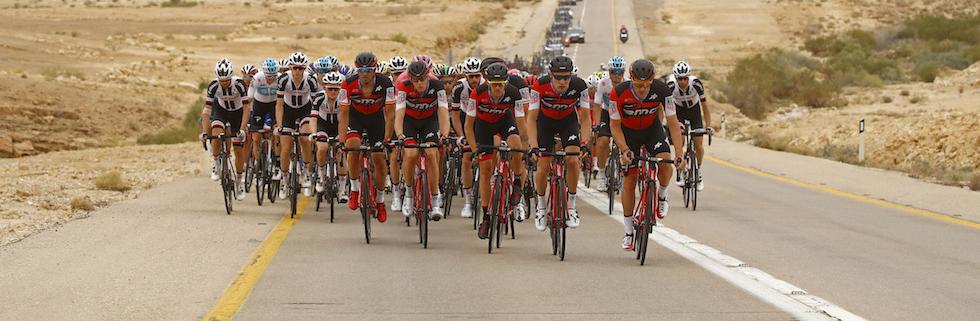 Giro d'Italia 2018, tappa del 6 maggio tra Beer-Sheva e Eilat. (Photo by Luk Benies / AFP)