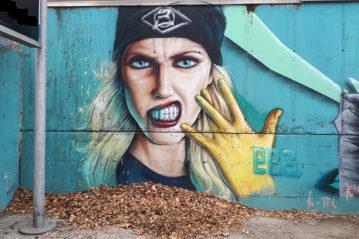 Bolzano, street art spontanea, 2019 (foto BG-sport&impianti).
