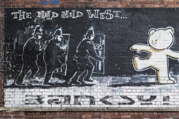 Bristol, UK: Banksy, Mild Mild West, 1999 (Ph. Urbanbuzz / Shutterstock, 2013).