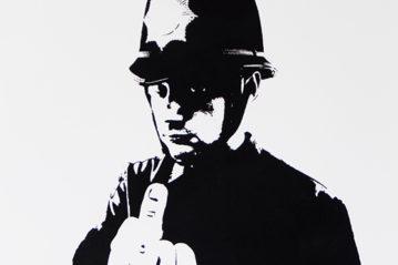 Banksy, Rude Copper (2003), 57,5x42 cm, serigrafia in edizione limitata (Butterfly Art News Collection).