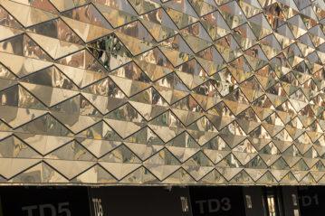 Esterni dello Stadio Friuli, progetto Archea (foto Pietro Favorelli)