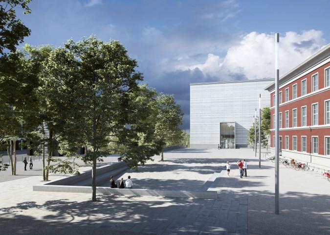 "Visualizzazione del nuovo ""Bauhaus Museum Weimar"" - Bloomimages GmbH"