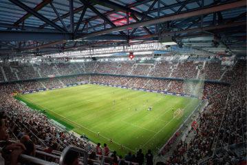 Vista interna della Red Bull Arena.