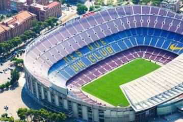 Il Camp Nou di Barcellona.