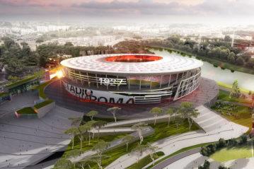 Il progetto per il nuovo stadio della Roma