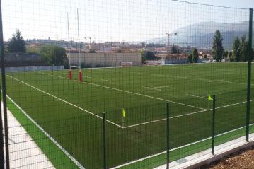 L'Aquila: il campo di Rugby ricostruito