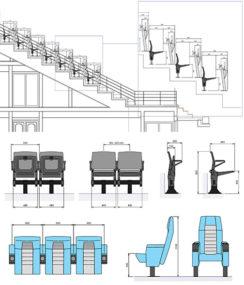 dettagli tecnici di alcune sedute