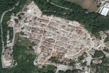 Centro storico di Amatrice (Google Earth)