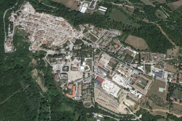 Amatrice: aerofoto da Google Earth