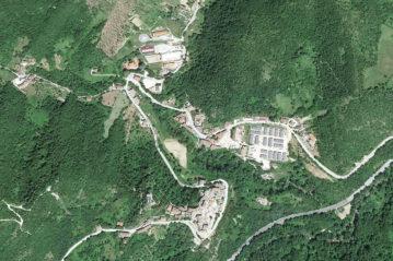 Arquata del tronto: aerofoto da Google Earth