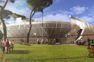 Rendering della nuova struttura realizzata in luogo della Next Gen Arena (In.tech)