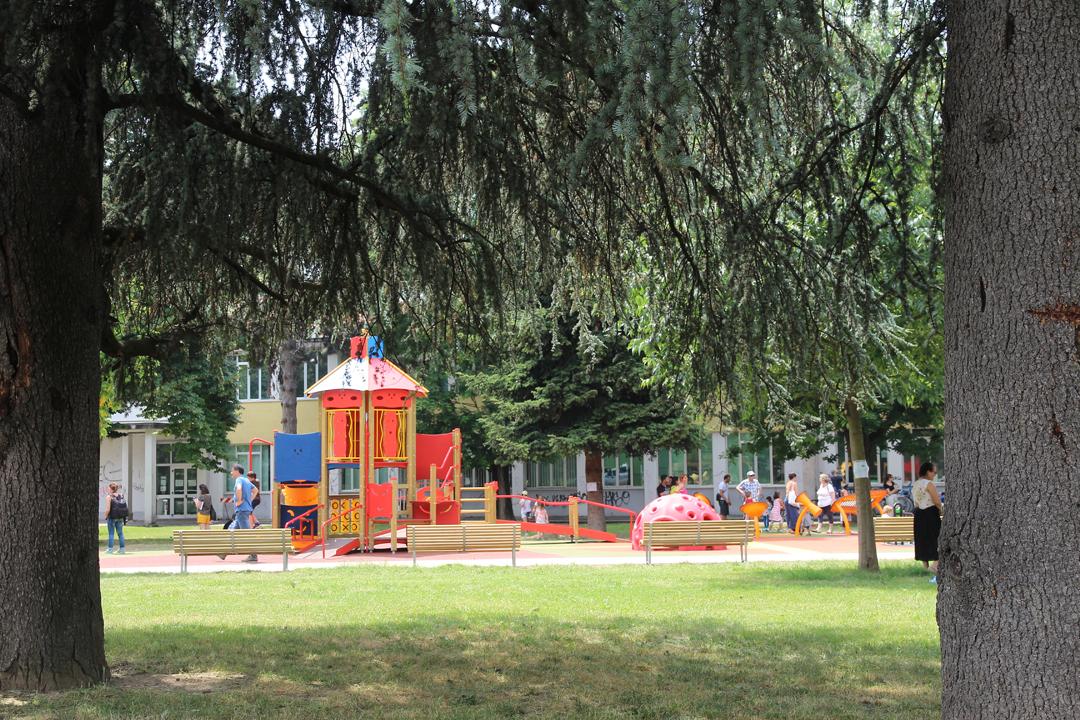 Il nuovo parco giochi nel verde