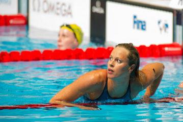Federica Pellegrini ai mondiali di nuoto 2013 a Barcellona (ph. Bruno Rosa)