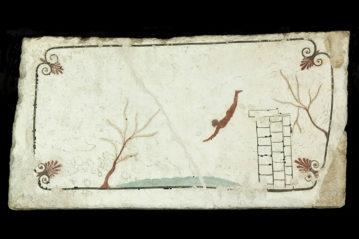 """Dipinto dalla """"tomba del tuffatore"""" a Paestum"""