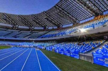 La nuova pista di atletica al San Paolo