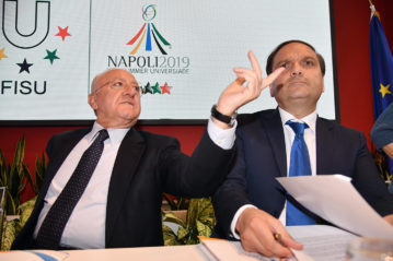 Il governatore della Campania De Luca e il Commissario straordinario Basile
