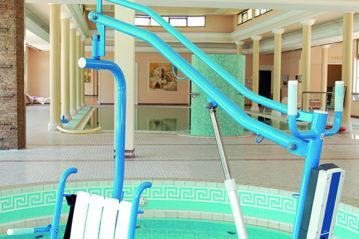 Sollevatore nella piscina termale  dell'Hotel Continental a Montegrotto Terme (Padova)