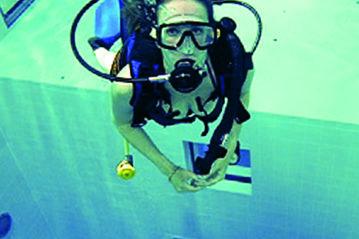 Nemo 33: interno della vasca