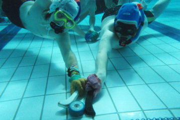 Underwater hockey alla Bangor University, Galles
