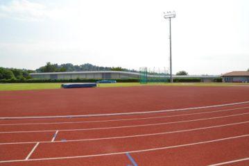 la nuova pavimentazione di atletica leggera e il pistino indoor