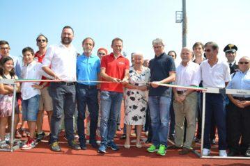 Stefano Baldini inaugura la nuova pista di atletica di Varese
