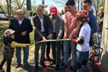 Inaugurazione del pump track a Poggiridenti