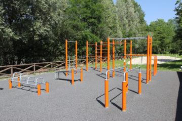 Fitness park a Piateda (Sondrio), ph. BG