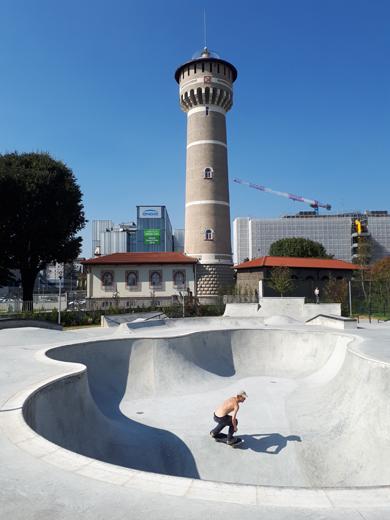 Skatepark nel Parco della Torre a Milano