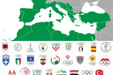 I Paesi partecipanti al Comitato Internazionale Giochi del Mediterraneo