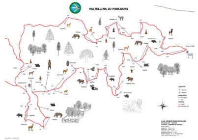 La mappa del percorso di Triangia